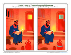 Paul's Letter to Timothy Spot the Differences