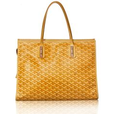 Goyard Yellow Marquise Printed Coated Canvas Tote Bag Purse