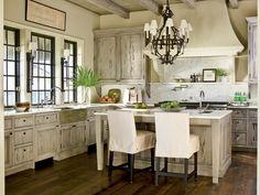 les plus belles cuisines rustiques, bois et blanc