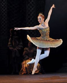 theballetblog:  Ksenia Ovsyanick (Fairy of the Golden Vine)  English National Ballet's 'Sleeping Beauty' see www.dancetabs.com photo - © Dave Morgan