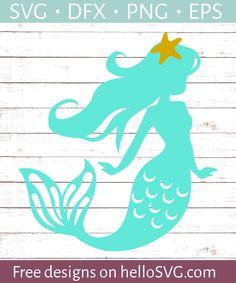 Starfish Mermaid SVG - Free SVG files   HelloSVG.com