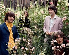 ❥ Beatles in the hollyhocks :)  ~From the last reported photoshoot of the the Beatles, July 1968, Tom Murray