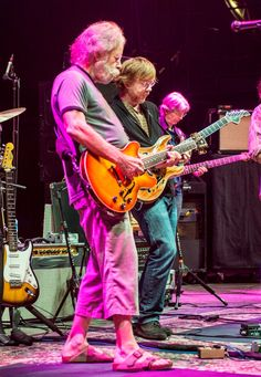 Inside the Grateful Dead's Final Ride - Trey Anastasio on the band's historic reunion shows this summer - By David Fricke - Caption: Grateful Dead - Weir, Anastasio and Lesh (from left) in Virginia, September 2013 - Credit: Jay Blakesberg