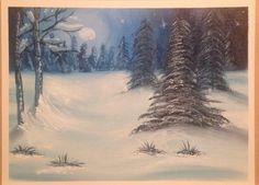 Silent night - tutorial by Marion dutton mazart studio Winsor newton oils on 18 x 20 canvas paper