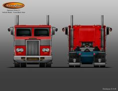Optimus Prime Truck Front/Back