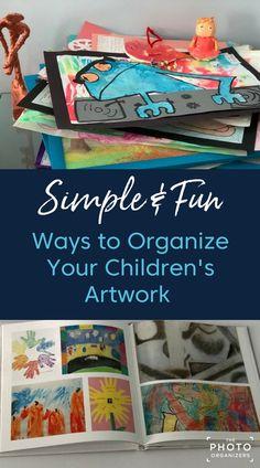 Simple & Fun Ways to Organize Your Children's Artwork Organizing Kids Artwork, Displaying Kids Artwork, Organizing Life, Kids Art Storage, Toddler Artwork, Childrens Artwork, Diy With Kids, Crafts For Kids, Foto Fun