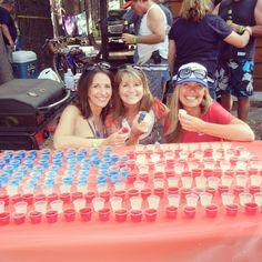 American flag jello shots