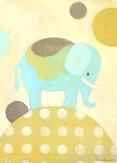 """Ella Elephant"" - Canvas Wall Art from Oopsy daisy, Fine Art for Kids"