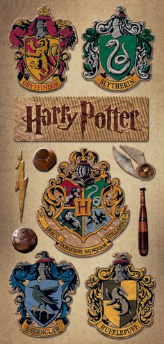 Creative Imaginations Harry Potter Chipboard Stickers