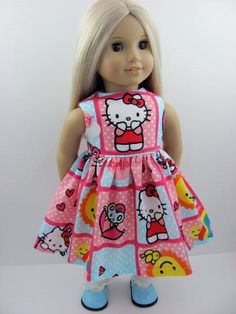 Hello Kitty Doll Dress for the American Girl Doll