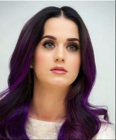 katy perry purple ombre hair