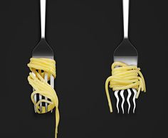 11. Tenedores deformes para que no se te caiga el spaguetti.