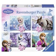 Ravensburger Disney Frozen 4 in Box Jigsaw Puzzles Family Games Christmas Gift