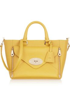 Mulberry Willow small leather tote | NET-A-PORTER - This tote is calling my name, love the Mustard colour