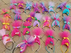 Troll hair headband QTY 10 party pack . Trolls. Party favors.