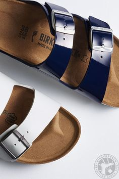 5aac21783e7 Amp up your two-strap game with shiny straps Birkenstocks