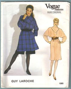 Vogue Sewing Pattern 1085 Guy Laroche Dress by CarolinesCurio, $15.00