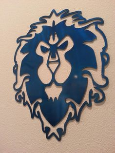 WORLD of WARCRAFT - Alliance logo, Metal Art, Decor, WOW, Gamer, Gaming, Man Cave, Metallic, Horde, rpg