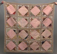 1 Old Quilts, Antique Quilts, Scrappy Quilts, Vintage Quilts, Quilting, Union Square, Square Quilt, Bed Covers, Fabric Scraps