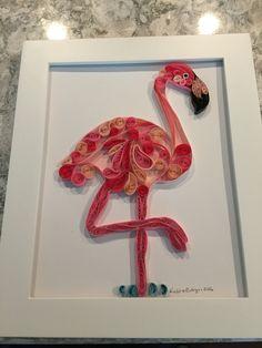 Quilled flamingo