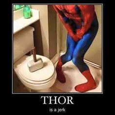 Avengers : Thor being a jerk.