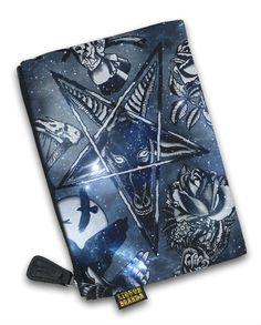 Restyle Gothic nugoth GATTO LUNA MOON CAT Witchy portamonete portafoglio wallet