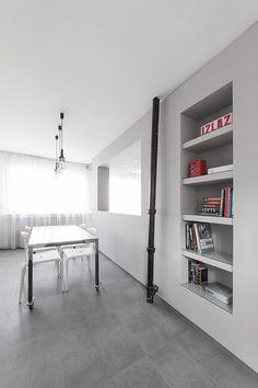 Kleines Wohn / Bereich Detail Wohnung Minimalistischen Andreja Bujevac 21  Schwarz Weiß (12)