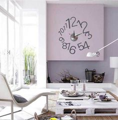 Metal and PVC combine style with effect clock activiated by bettery.decor and function combined. Wall Clock Sticker, Vinyl Wall Stickers, Wall Clocks, Decals, Flos 265, Art Watch, Pvc Wall, Diy Clock, Home Art