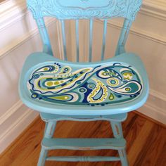 Hand painted highchair!!!