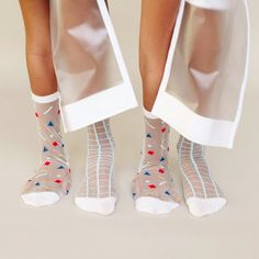 The Sheer Patterned Sock featured on @beyondthemag.