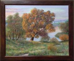 "Landscape Oil painting, oil on canvas, Handmade art ""Golden morning"". Handmade Art, Oil On Canvas, Landscape, Painting, Scenery, Painting Art, Paintings, Painted Canvas, Corner Landscaping"