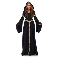 Gothic Pagen Witch Hooded Cloak Dress Outfit Costume Adult Women NEW #LegAvenue #CompleteCostume #CostumeParty