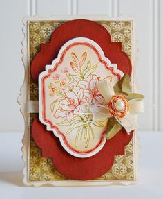 Floral Vintage Labels Two Cling Stamps