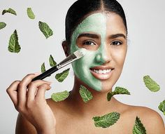 DIY Fresh Mint Face Mask for a Youthful Glow Vitamin A, Home Remedies For Skin, Acne Remedies, Greasy Skin, Oily Skin, Mint Leaves Benefits, Skin Whitening Foods, Clear Skin Overnight, Homemade Face Pack