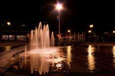 Water fountain #night photography #Portland Oregon