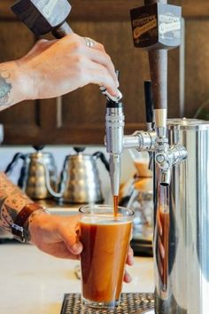 You may not have seen nitro cold brew coffee on the menu at your local coffee shop yet, but it will be there SOON. But WHAT is nitro coffee? Read on to find out! Coffee Type, Hot Coffee, Coffee Shop, Coffee Maker, Espresso Coffee, Coffee Machine, Coffee Pods, Coffee Lovers, Coffee Barista