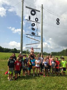 Group #1 conquered the high ropes course!! #teamwork #success #funinfrench #overnight
