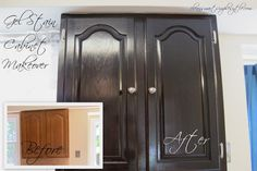 Gel Stain Cabinet Makeover Before/After