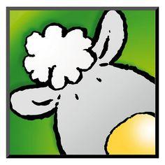 """Art.com """"Sheep"""" Wall Art, Green"""