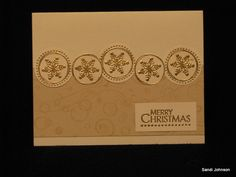 Gold Christmas by sandijcrafts - Cards and Paper Crafts at Splitcoaststampers