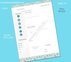 Template midia kit a venda - Código: 101 Preço: R$ 20,00 (vinte reais) Contato: escritoriolardocelar@gmail.com