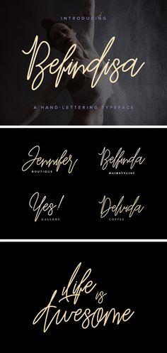 Befindisa — рукописный шрифт