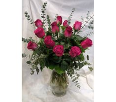 Flirty Hot Pink Rose Bouquet in Princeton, Plainsboro, & Trenton NJ, Monday Morning Flower and Balloon Co. Rose Flower Arrangements, Rose Delivery, Pink Rose Bouquet, Hot Pink Roses, Morning Flowers, Monday Morning, All The Colors, Favorite Color, Floral Design