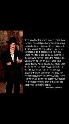 Michael Jackson ~ Such a caring, giving, loving person. Why I Love Him, Love You, My Love, Mj Quotes, Michael Jackson Quotes, Idole, King Of Music, Jackson Family, The Jacksons
