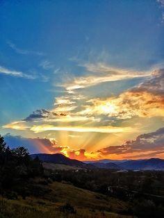 Sunrays in Colorado