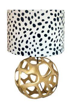 Target lamp base & dalmatian print shade
