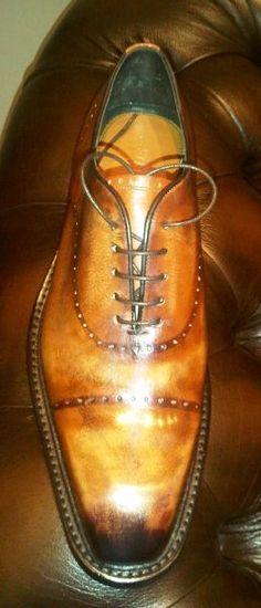 Croatian Bespoke Shoes — Strugar – The Shoe Snob Mens Shoes Boots, Leather Shoes, Shoe Boots, Italian Shoes, Italian Men, Hugo Boss, Mens Business Shoes, Prada, Spectator Shoes