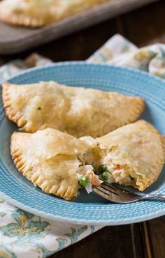 Super easy Chicken Pot Pie Turnovers made with refrigerated pie crust