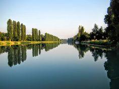 Op de Mincio rivier varen