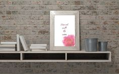 Stop and smell the roses downloadable wall art pdf A4